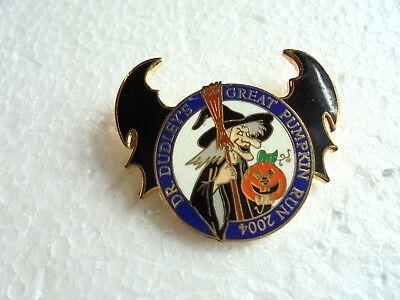 Halloween Motorcycle Run (Vintage 2004 Dr Dudley's Great Pumpkin Run Halloween Witch Enamel Biker)