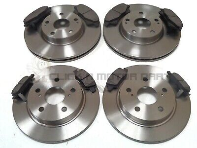 REAR BRAKE DISCS AND PADS SET NEW FOR TOYOTA AVENSIS 2.2 D4D 2005-2008