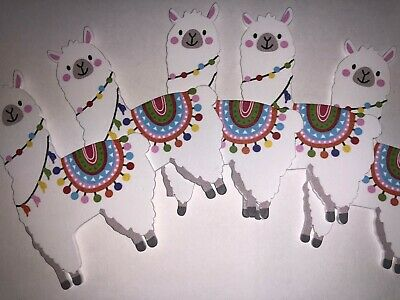 Baby Shower Ornaments (CHARMED Colorful Llama Lovely wood ornament Bohemian theme Baby Shower 5)