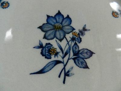 1ea VINTAGE NEWCOR VERSAILLES 503 CHINA 7-5/8 SALAD PLATE BLUE FLOWERS JAPAN - $24.99