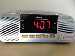 GPX CRCD3805 Compact Disc AM FM Stereo Clock Radio with Dual Alarm  Tested Works