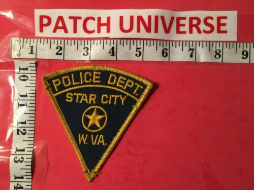 STAR CITY WEST VIRGINIA  POLICE SHOULDER PATCH    A057