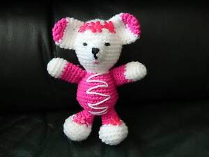 Soft Toy Crochet Knit Stuffed Amigurumy Pink Bear Dandenong Greater Dandenong Preview