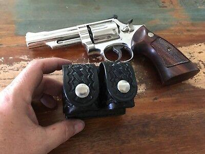 Tex Shoemaker 101 Black leather Triple Speedloader For S/&W K .357 Revolver