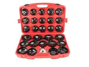 Ölfilterschlüssel Set 31 tlg. Ölfilterkappen Ölfilter Werkzeug Koffer Set Neu