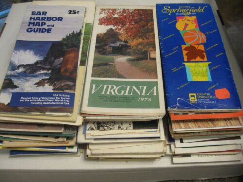 USA Travel Brochures & Maps Lot (100+) Vintage 1970