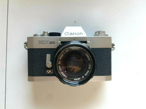 (AS-IS) Canon EX Auto QL Vintage 35mm Film Camera FROM JAPAN