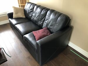 Practically new leather couch