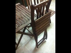 Folding Table and 3 Chairs