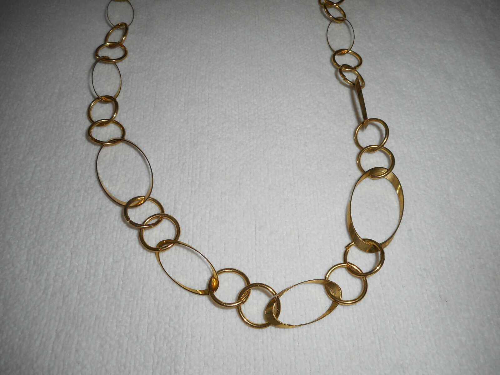 Modeschmuck  Wunderschöne Kette Gliederkette  lang  goldfarben 96cm  Shabby
