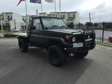 1987 TOYOTA L/CRUISER DIESEL 4.0LTR 4X4 C/CHASSIS FLAT TRAY UTE! Mordialloc Kingston Area Preview