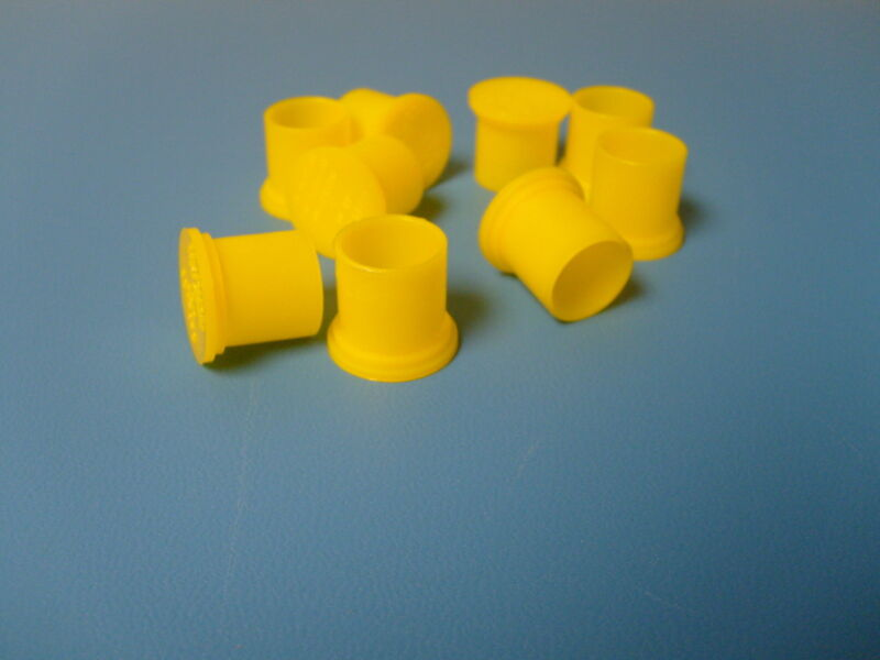 New BNC Female Cap Plugs Caplugs Lot 250 Yellow New Protection Caps Dust Cover