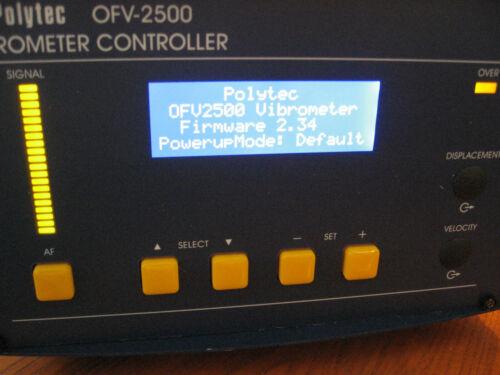POLYTEC OFV-2500 VIBROMETER CONTROLLER