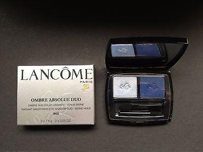 """2 Lancome Lidschatten (Lancome Lidschatten 2er Palette """"Ombre Absolue Duo Nr. """"B03 Blue Moon"""" - Neu)"""
