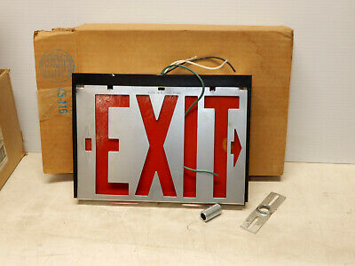 Vintage Safety Exit Light Original Box