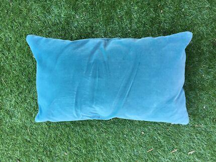 Teal, velvet rectangular cushion  Mosman Mosman Area Preview