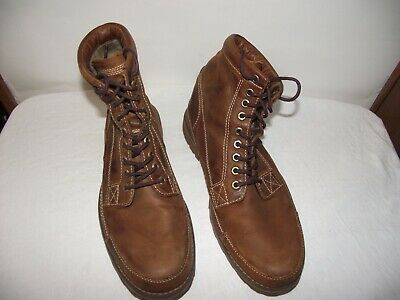 Timberland Mens Size 9.5 Brown Leather Boots Heritage Earthkeepers 15551, EUC