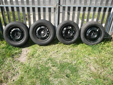 4x car tyres on rims,good conds, 3x5 stud and 1x 4 stud pattern. Granville Parramatta Area Preview