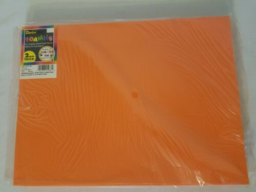 Pack of 10 Darice Foamies Craft Foam Sheets Orange 2mm Thick (9 x 12 inches)