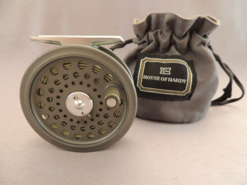 Hardy JLH Ultralite #5 Fly Fishing Reel + Makers Bag.