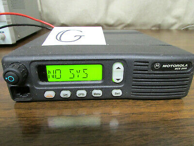G - Motorola Mcs 2000 Mobile Radio 800mhz Uhf 250 Channels M01hx812w As-is