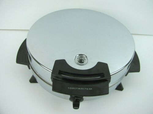Vintage Toastmaster Waffle Iron Maker Model W252A Chrome Silver Nonstick