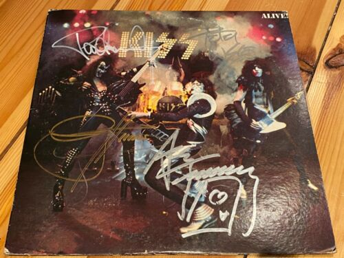 Kiss Alive! Japanese Pressing Fully Signed Autographed Vinyl Gene Simmons