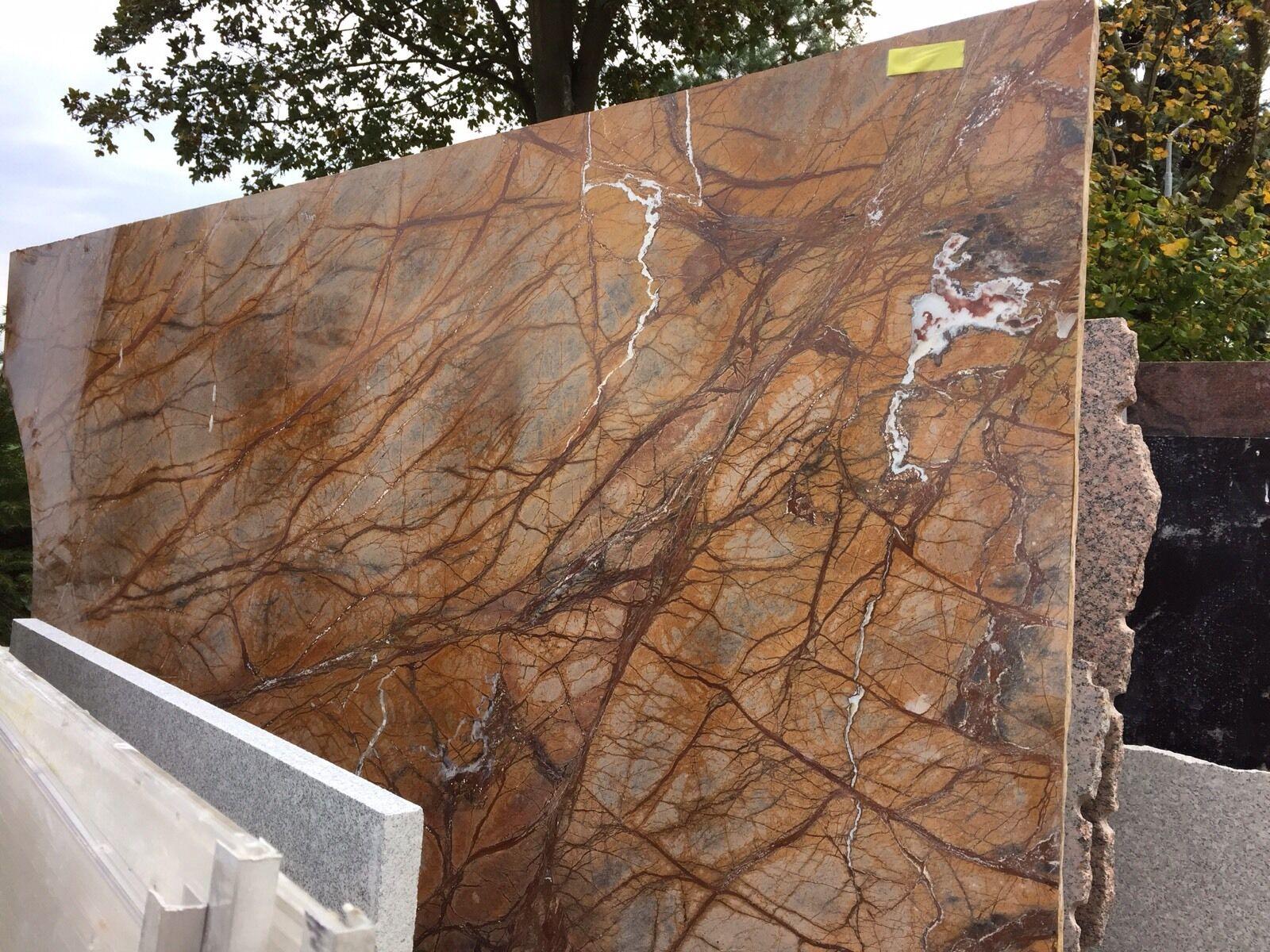 tischplatte in marmor naturstein rainforest brown f r. Black Bedroom Furniture Sets. Home Design Ideas