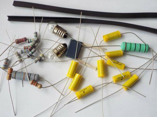 Bush DAC90A repair kit (B) 9 axial, 1 radial capacitor. lamps + R/C & resistors