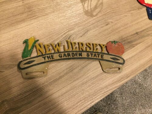 New Jersey license plate topper.