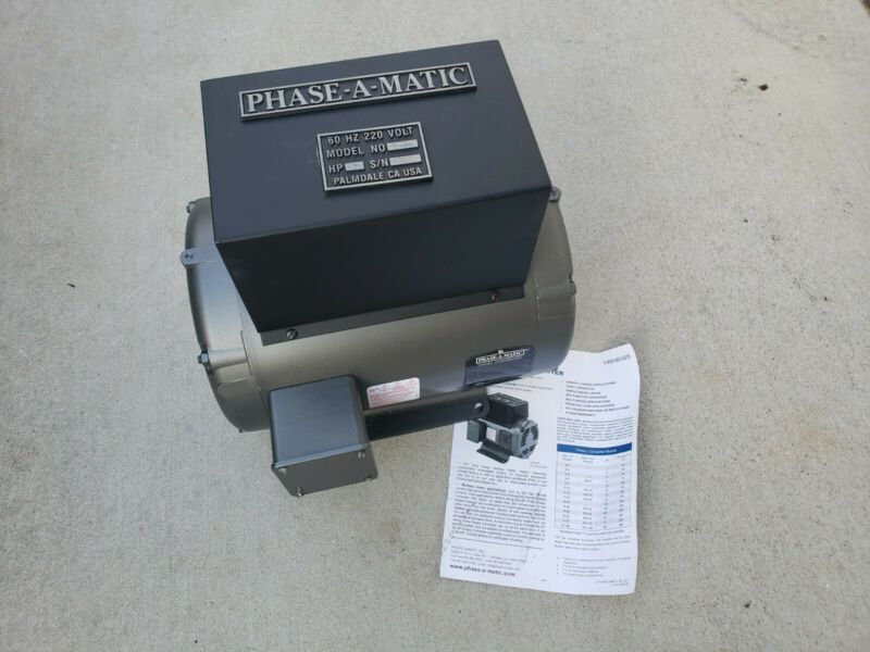 •NEW OPEN BOX• R-7  7.5 HP - 220 VAC - PHASE-A-MATIC ROTARY PHASE CONVERTER