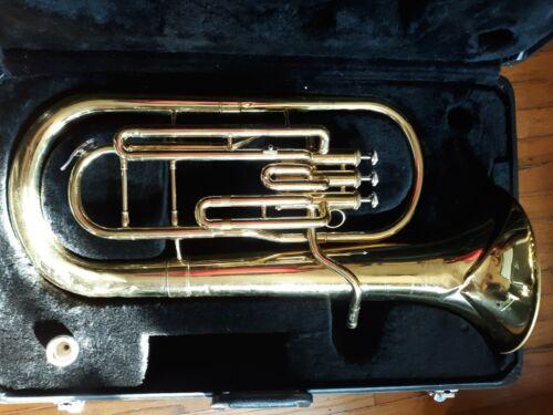 Jupiter JBR-462 Baritone Euphonium 3-Valve Gold Brass Horn - Used
