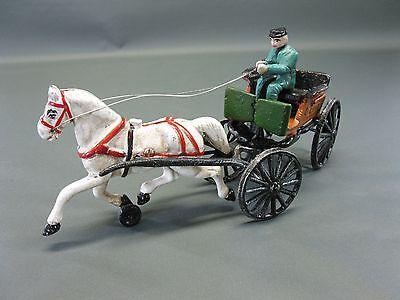 Gusseisen Pferdekutsche Dekoration im Antikstil 35 cm 2 Kg schwer mit Kutscher