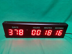 HUGE! LED Countdown Timer Digital Clock Count Down/Up Days Event