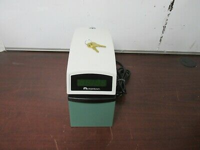 Acroprint Etc Validation Time Recorder Stamp Clock With Keys 56d