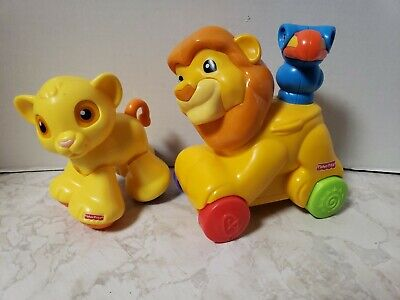 Amazing Animals Clicker Pals Baby Simba and Mufasa The Lion Fisher Price Disney