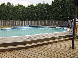 Above ground pool with deck 1500 OBO