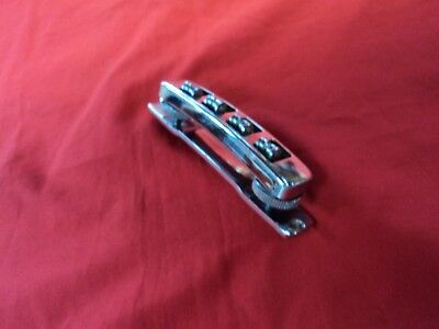 "VINTAGE GOYA ""RANGEMASTER"" ELECTRIC BASS GUITAR BRIDGE ASSEMBLY- MADE IN ITALY"