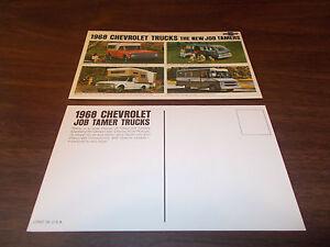 1968 Chevrolet Trucks Advertising Postcard /Fleetside PU/Sportvan/Camper Van