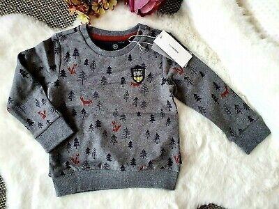 Baby Noppies Langarmshirt Pullover Sweat is Allentown Gr:86cm 12-18M JungenGrau