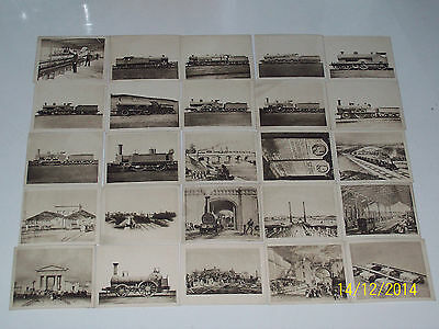 R & J HILL THE RAILWAY CENTENARY 2nd SERIES NO'S 51-75 - 24 GOOD CARDS