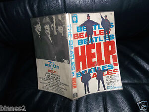 THE-BEATLES-OFFICIAL-HELP-1st-Edition-ORIGINAL-PAPERBACK-BOOK-RE-SECOND-FILM