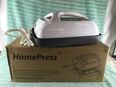 Power Press Homepress Whitegold Portable Easy Heat Press Machine - Used