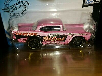HOT WHEELS 2020 ROD SQUAD # 10/10  '57 CHEVY  (PINK)
