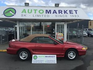 1997 Ford Mustang Convertible, Service records! Clean Car!