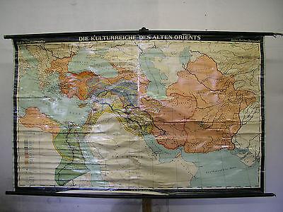 Schulwandkarte Wall Map Rich Sheik Orient No Oxident 198x124cm 1963 Kl.vers