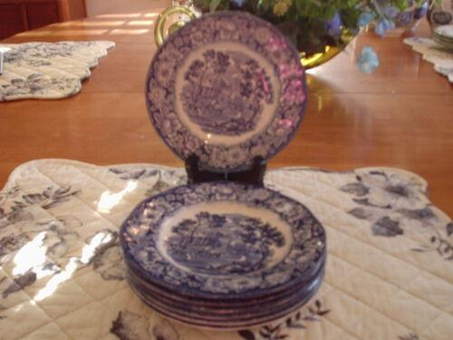 Liberty Blue- Monticello - Bread Plates- 7- Unused