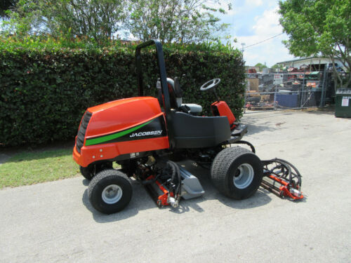 "Jacobsen LF 3400 Fairway 100"" cut Reel Mower Kubota 33 hp Diesel Grass Baskets"