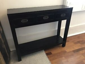 Black Solid Wood Side Table Buffet Buffets Side Tables Gumtree