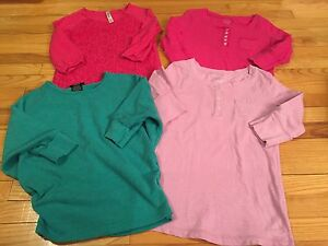Girls 3/4 sleeve tops -- size 10/12